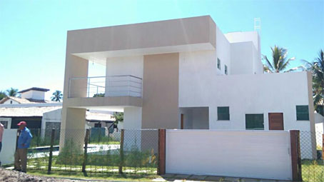 Nova Casa Com 4 Quartos em Condomínio a Beira-mar