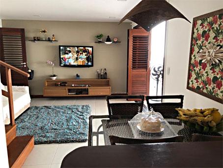 Casa Geminada de 2 Quartos em um Condomínio à Beira-mar
