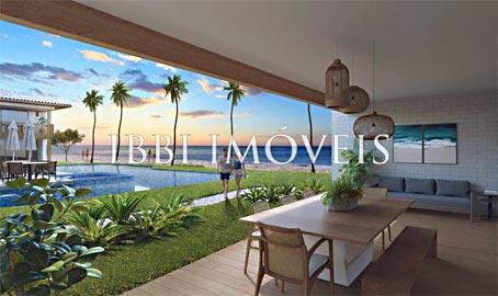 Novos Apartamentos de 3 Quartos em Condomínio à Beira-mar