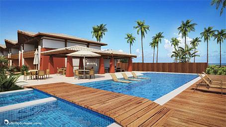 Apartamentos Premium com 2 Quartos em Condomínio Frente ao Mar