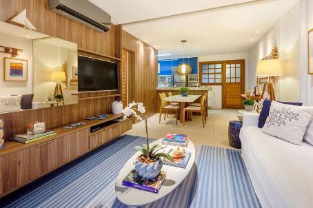 Belo Apartamento de Um Quarto em Condomínio Premium Próximo à Lagoa