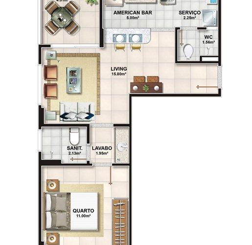 Apartamentos de 1 dormitorio en Frame Garden 4