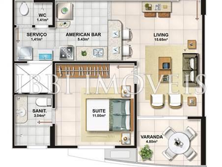 Apartamentos de 1 dormitorio en Frame Garden 3