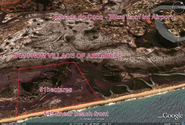 Área 51 hectares Beira-mar 2