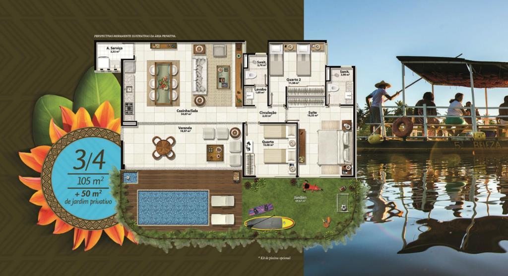 Apartamento Beira Mar Com Jardim Privativo 8