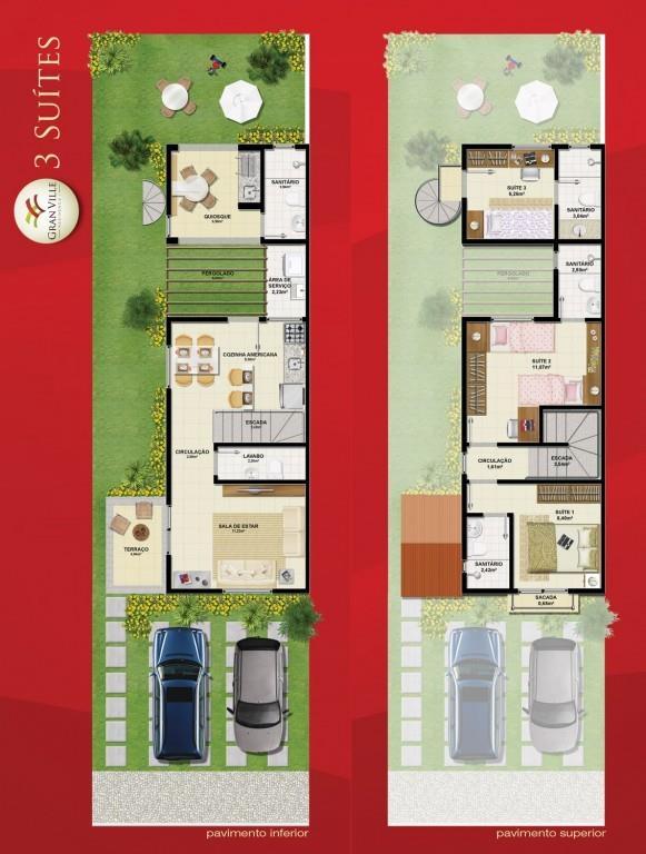 Casa in stile americano con 3 camere da letto 4