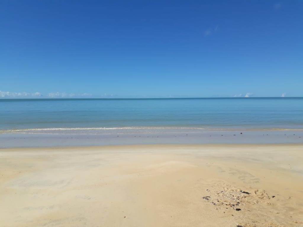 Bellissima Terra Mare Fronte Piede Nella Sabbia 1