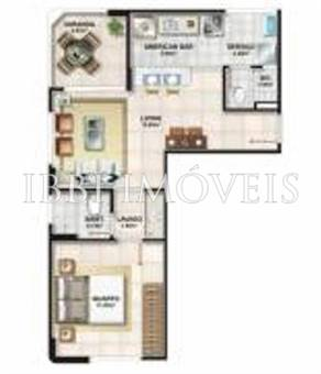 Apartamento quarto e sala no Jardim Armação 2