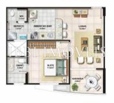 Apartamento quarto e sala no Jardim Armação 3