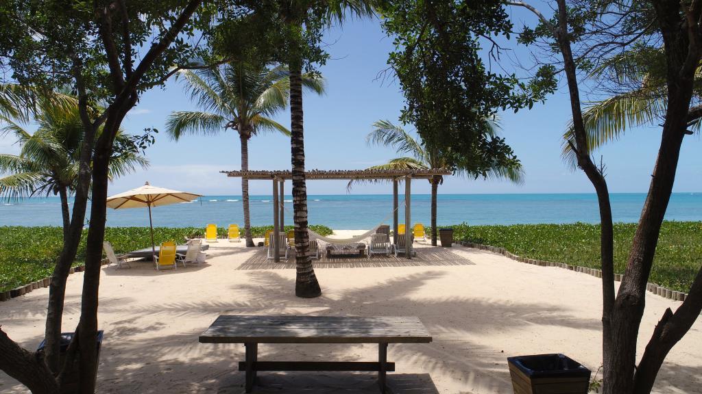Piede unico e grande della spiaggia nell'area 3