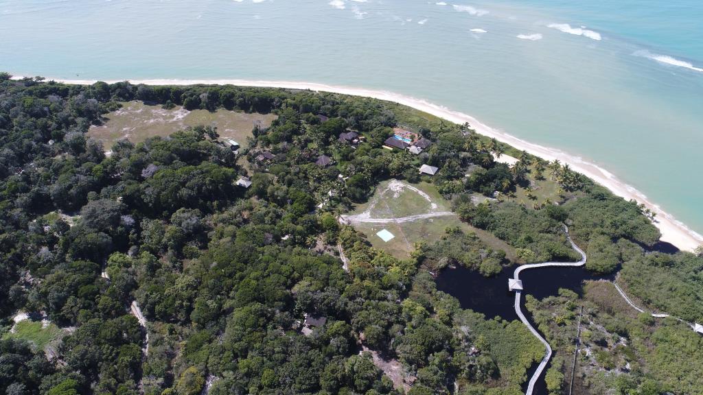 Piede unico e grande della spiaggia nell'area 15